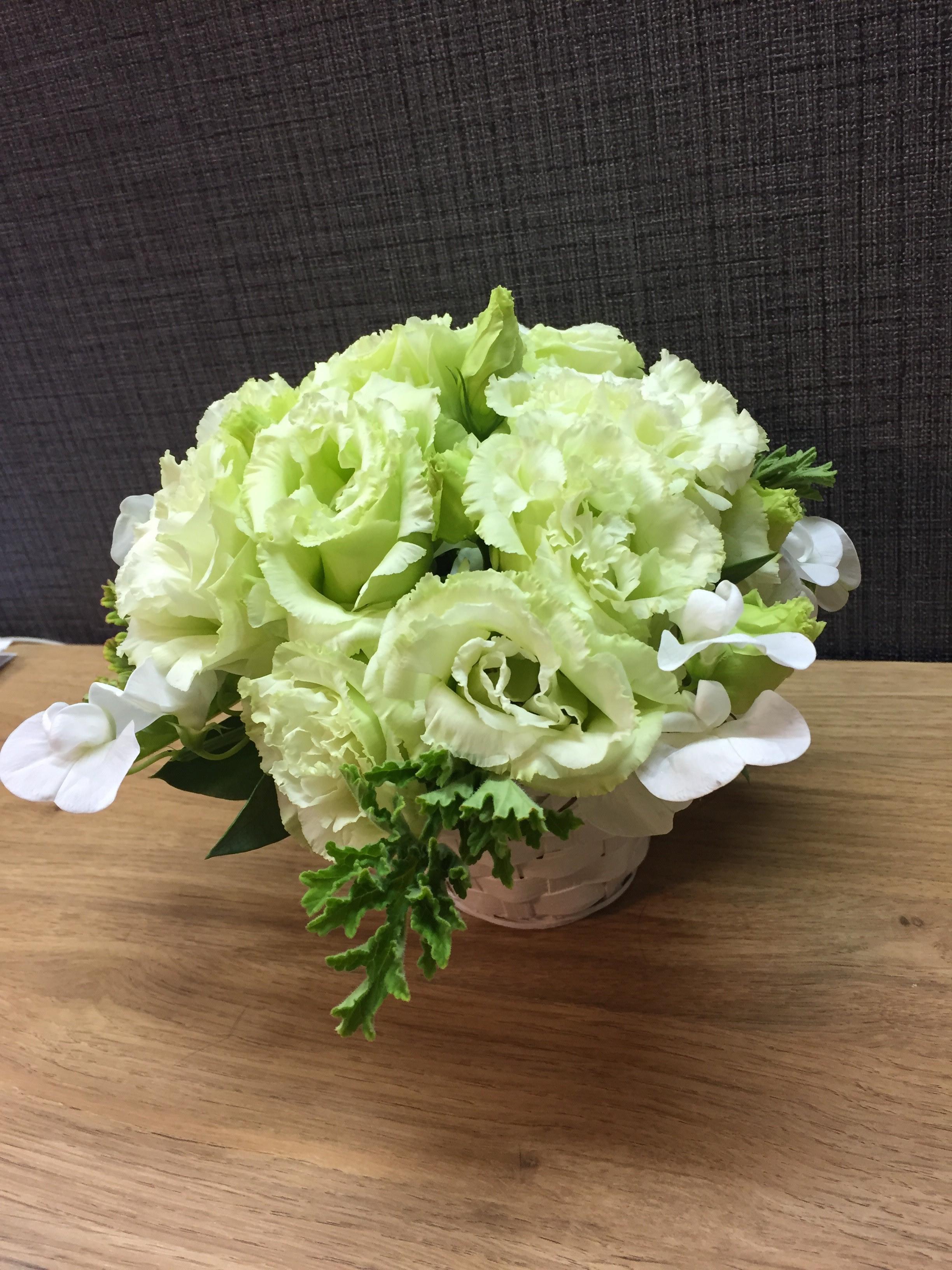 復習用花材でアレンジメント